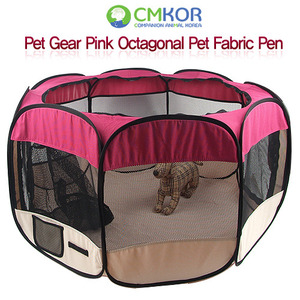 Pet Gear pink Octagonal Pet Fabric Pen (L - RED)