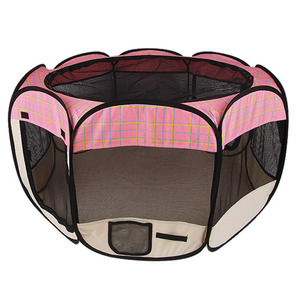 Pet Gear pink Octagonal Pet Fabric Pen (M)